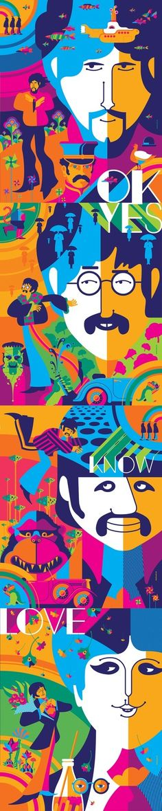 Cool graphics of the Fab Four @strongstufftom