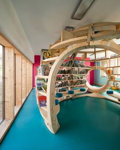Not only has Crassat designed the architectural environment, but also the modular furniture aimed to allow the children to move and work themselves – promoting individual autonomy as well as flexibility to cater for a number of activities at one time.
