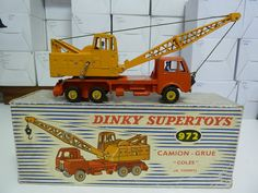 FRENCH DINKY TOYS NO.972 CAMION GRUE, COLES MOBILE CRANE