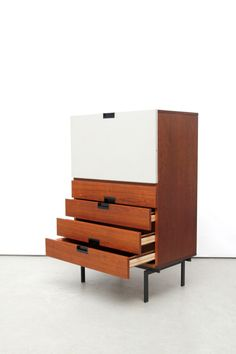 Cees Braakman; #CU07 Japanese Series Secretary Cabinet for Pastoe, 1957.