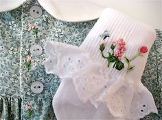 Hand Smocked Hand Embroidered Girls Dress by rabbitwhiskers, $200.00