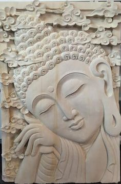 Our Arnapuna stone carving or wall relief is a limited artistic release that we imported this winter after our 2015 summer visit to Bali. There are a very limited number of these special collaboration Carved Wood Wall Art, Clay Wall Art, Mural Wall Art, Mural Painting, Clay Art, Hand Carved, Paintings, Buddha Wall Art, Buddha Painting