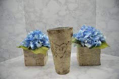 Personazlied Birch-Wrapped Vase Rustic Wedding by LowcountryRoots