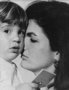 Jacqueline Kennedy and her son, JFK Jr.