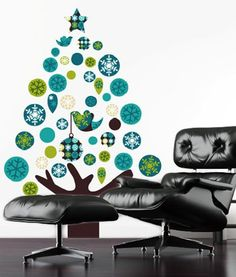 Australian Christmas Tree Wall Decal
