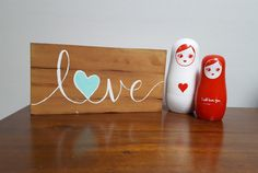 Love wood sign Pallet sign Valentine's gift by BlissfulPallets