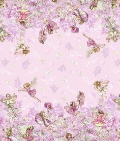 MICHAEL MILLER PETAL FLOWER FAIRIES BORDER FABRIC 1/2 YD in Crafts, Sewing & Fabric, Fabric | eBay