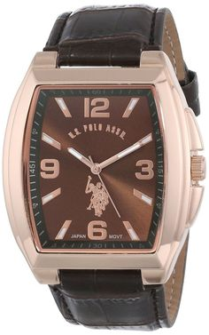 u s polo assn classic men s usc50009 genuine leather silver dial u s polo assn classic men s usc50181 analog quartz brown watch