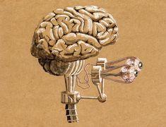 Steampunk Cyborg's Brain by rsandberg.deviantart.com on @deviantART