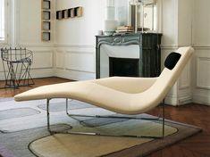 Chaise longue rembourrée en tissu LANDSCAPE '05 by B