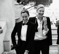 Cate Blanchett and Emily Blunt suited up for IWC Schaffhausen's ad campaign