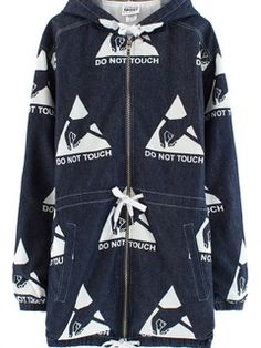 Vfiles DO NOT TOUCH DENIM PARKA