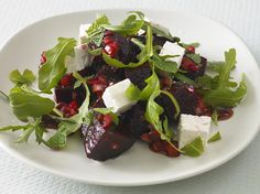 Deep magenta with accents of white and green, serve this salad as a side dish or a first course. Good with grilled lamb or steak, or on its own, as a light lunch.