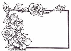digi17504 Rose Label Digi-Stamp Colouring Pages, Adult Coloring Pages, Coloring Books, Pop Art Wallpaper, Flower Phone Wallpaper, File Decoration Ideas, Old School Rose, Art Drawings For Kids, Parchment Craft