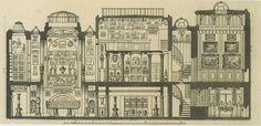 Section of John Soane's House, London
