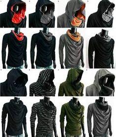 New Men GREEN Cloak long sleeve turtle COWL NECK Hoodie shirt top S M L XL XXL