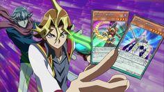 Reiji und Shingo beim erfassen der Daten der Pendelbeschwörung im Duell gegen Yuya.