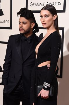 Pin for Later: The Weeknd and Bella Hadid Made Their Red Carpet Debut at the Grammys