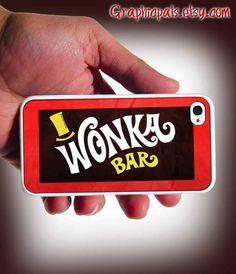 Willy Wonka Bar Design iPhone 4 Case or iPhone 4s by Graphicpals, $15.00