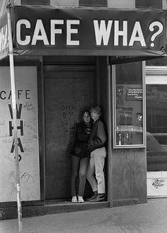 Cafe Wha? on Macdougal St., Greenwich Village, NYC, 1961
