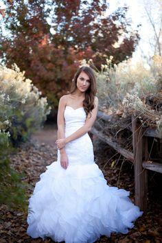 Bride, wedding dress, fall bridals, utah bridal photographer, wedding photography   St. George Weddings   M. Felt Photography