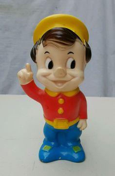 "VTG 1960's KELLOGG RICE KRISPIES POP 8"" Rubber Doll Squeak Toy Advertising #Kellogg #RiceKrispies #Advertising"