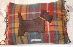 £39.00  Antique Buchanan Tartan Scottie Dog Cushion http://www.onemoregift.co.uk/