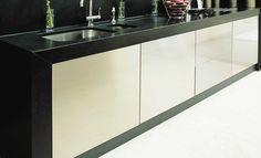 WORKTOPS Honed Black Granite worktop with an apron front. Kitchens Bathrooms, Granite Worktops, Kitchen Worktop, Granite Sink, Marble Worktops, Kitchen, Kitchen Sink Install, Kitchen Countertops, Granite