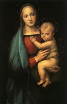 """This Art Work is is by Raphael. The name of the art work is The Madonna Del Granduca. Madonna Del Granduca, by Raphael art print"""" I picked this painting because I think that it symbolizes the virgin with child painting. Renaissance Kunst, High Renaissance, Renaissance Paintings, Madonna Art, Raphael Paintings, Virgin Mary, Art History, Raffaello, Faith"