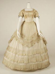 Dress (Ball Gown)  Date: ca. 1869