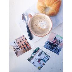 Saturday mornings. Latte, croissant and art. Prints by Liana Carbone :: LIKĀ