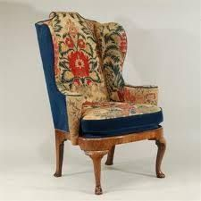 Bilderesultat for wing back chair with contrast fabric