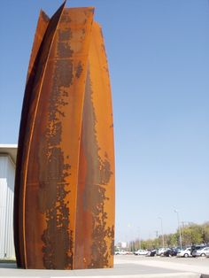 Sculpture by Richard Serra. @Deidra Brocké Wallace