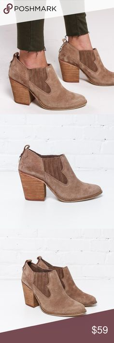 """NIB Chinese Laundry Sonoma Suede Ankle Bootie Tan The Sonoma bootie will be a tried-and-true classic thanks to its almond toe, chunky block heel, and elastic gore inserts creating a western-inspired flair! Skirts, dresses, denim...this ONE bootie can cover them all!  suede upper synthetic sole true to size 3.5"""" heel imported price is firm unless bundled  Check out my closet for more new with tags styles from your favorite brands! Chinese Laundry Shoes Ankle Boots & Booties"""