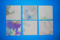 Small print abstract art monotype printmaking