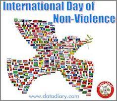 Oct. 2nd: Happy International Day of Non-Violence! Commemorating the birthday of Mahatma Ghandi.
