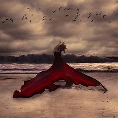 """""""Red Whale""""  Breathtaking photography by Brooke Shaden.  She is my all time favorite photographer."""