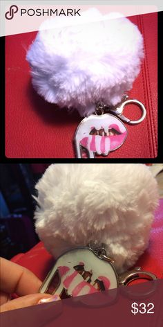 Kylie authentic white Pom Pom keychain New in package - no Kylie box or card just key chain Kylie Cosmetics Accessories Key & Card Holders