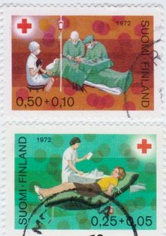 Finland Red Cross Stamps 1972.