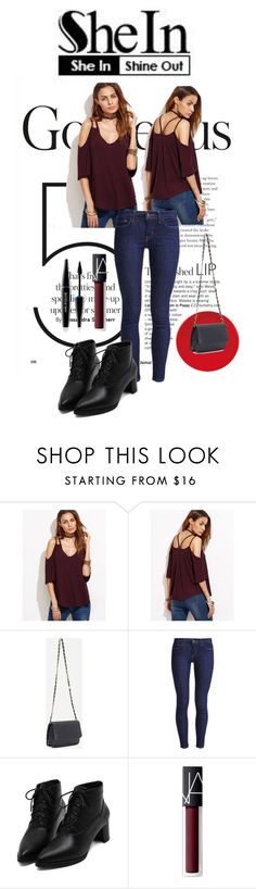 """""""SheIn"""" by armsdani ❤ liked on Polyvore featuring Levi's, NARS Cosmetics and MAKE UP FOR EVER"""