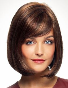 Petite Portia Wig by Revlon..A sexy bob cut and sleek, modern style you are sure to love!. Featuring a Monofilament Left Part which giveyou a more natural skin like appearance at the part.