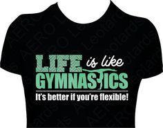 Gymnastics GYMNAST Glitter T-shirt Gymnastic Shirt girls ladies Sparkle Rhinestone Chevron Life is like gymnastics shirt