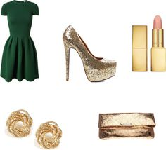 """""""Green Dress - Formal"""" by alexiswiebe on Polyvore"""