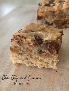 These soft and fudgey Choc Chip Banana Blondies will become your new favourite dessert and sweet treat! Both regular and Thermomix instructions are included. Best Dessert Recipes, Fun Desserts, Delicious Desserts, Delicious Chocolate, Chocolate Recipes, Banana Blondies, Thermomix Desserts, Easy Party Food, Star Food