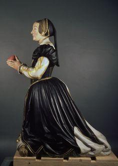 Anonyme bourguignon, Antoinette de Fontette, pierre polychromée, vers 1550 - Musée des beaux art dijon