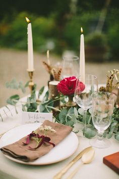 Woodland whimsy styled shoot ~ Paula O'Hara via Wedding Sparrow – Best Pins For You Reception Design, Event Design, Bridal Shoot, Wedding Shoot, Table Setting Inspiration, Wedding Inspiration, Wedding Ideas, Wedding Table Centerpieces, Wedding Decorations
