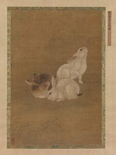 Three Rabbits Unidentified Artist Artist: Formerly attributed to Gong Ji (Chinese, Northern Song dynasty)