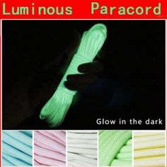 20 Foot Glow In The Dark Nylon Paracord 550LB 9 Strands Survival Luminous Parachute Cord