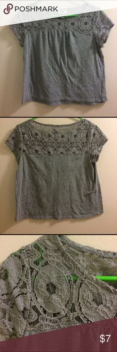 Kids gray shirt with lace on top Kids gray shirt with lace on top. XL. Old Navy Shirts & Tops Tees - Short Sleeve