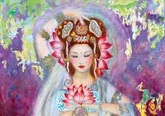 new age paintings of the Godess Quan Ying in hd - Google Search